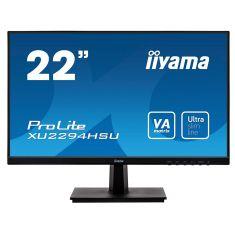 "Moniteur IIYAMA 21 -5"" LED 16:9 4ms 1920x1080 DisplayPort HDMI VGA USB 2x2.0  haut-parleurs noir XU2294HSU-B1"