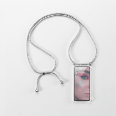 WE Coque de protection avec tour de Cou pour smartphone Apple iPhone 6/7/8/SE 2020. Ultra résistant. Apparence conservée. ARGENT
