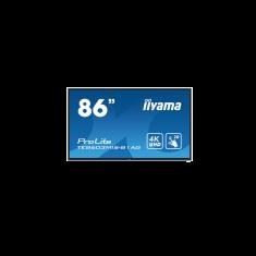"IIYAMA LFD 86"" Tactile Infrarouge 20pts16:9 24/7 IPS 4K 3xHDMI VGA RJ45 4xUSB  iiWare 8.0 350cd/m² 8ms Portrait  Hp:2x8W Noir TE8603MIS-B1"
