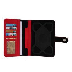 H-720 TPU Rouge Housse Universelle pour tablette 7' Attaches en silicone ajustables Porte-cartes - Nanomatériaux