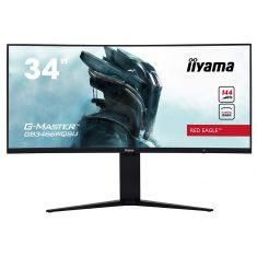 "Moniteur IIYAMA 34"" 1ms G-MASTER 21:9 Red Eagle 3440x1440 FreeSync 2xDPs 2xHDMI USB3 144Hz incurve HPs13cm pied régl/GB3466WQSU-B1"