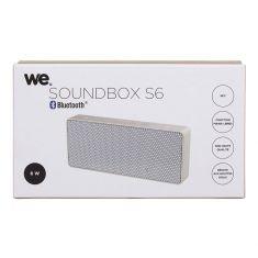 Enceinte bluetooth 6W rectangulaire Soundbox S6 blanc et or - 2x3W - NFC anti-éclaboussures/poussières IPX
