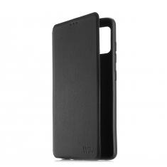 Etui de protection WE noir pour smartphone Samsung Galaxy A02S Résistant aux chocs et chûtes. Accès caméra et multi-position.