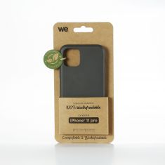 WE Coque Bio Apple iPhone 11 Pro - Eco-Friendly Biodégradable et Compostable - Housse Etui Antichoc, Compatible avec L'induction, Ultra Protection Bumper, Anti Rayure - Noir
