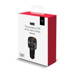 Kit Bluetooth + tranmetteur FM Transfert appels et musique Deux ports USB Finition métalique