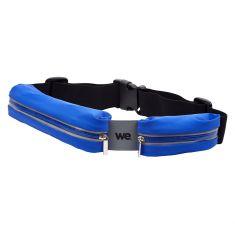 Ceinture sport bleue en Lycra Waterpoof - double poche Universel jusqu'à smartphone 5.7'