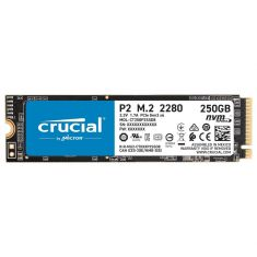 SSD CRUCIAL 250Go P5 M.2 Type 2280 3D NAND NVMe™ PCIe® 3400Mo/s Lecture, 3000Mo/s Écriture Gar 5ans CT250P5SSD8