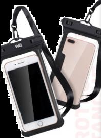 WE Pochette étanche universelle - WATERPROOF - Sacoche pour smartphone jusqu'à 6,5 pouces Multi-usages / Anti-Rayures / NOIR