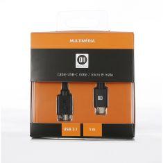 Câble USB-C / Micro-B 1M noir pour disques durs externes 2 -5'' et autres appareils compatibles USB 3.1 Gen 2