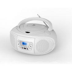 Lecteur Radio CD-MP3 avec télécommande - 2*2W RMS Blanc