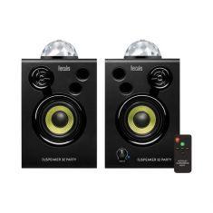 Hercules DJSPEAKER 32 PARTY Enceintes de DJ actives monitoring 2x15 watts avec lumières intégrées caisson en bois 6mm- lumières LED