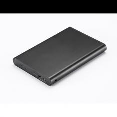 Boitier externe 2.5' pour DD ou SSD SATA, sortie USB 3.0 alu Noir