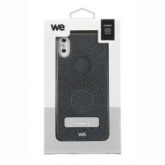 Coque Paillette - iPhone X Noir - Semi rigide