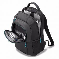 "DICOTA Sac a dos design sportif Pour PC 13""-15.6"" + Tablette 10.5"" Rembourage respirant au dos BACKPACK SPIN NOIR D30575"