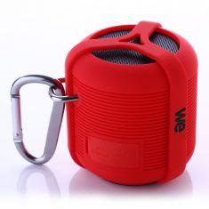 Enceinte Sport Bluetooth Waterproof Rouge - 3W - resiste aux chocs - à la poussière et flotte