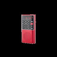 WE RADIO DE POCHE rechargeable FM, lecteur de carte micro SD RMS 3W, prise casque Rouge