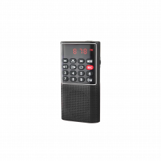 RADIO DE POCHE rechargeable FM, lecteur de carte micro SD RMS 3W, prise casque Noir