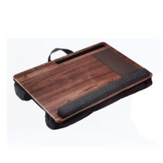 Plateau avec coussin WE pr PC port Tapis de souris/repose-poignet inté support smarphone/tablette intégré pr PC jusqu'a 17'', en bamboo