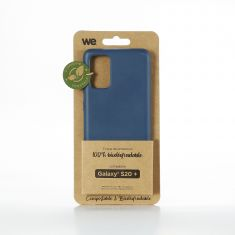 WE Coque Bio SAMSUNG GALAXY S20+ - Eco-Friendly Biodégradable et Compostable - Housse Etui Antichoc, Compatible avec L'induction, Ultra Protection Bumper, Anti Rayure - Bleu
