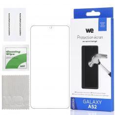 WE Verre Trempé pour Samsung Galaxy A52- Film Protection écran Anti-Rayures - Anti-Bulles d'air Ultra Résistant - Dureté 9H Glass
