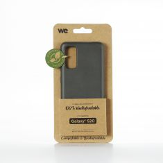 WE Coque Bio SAMSUNG GALAXY S20 - Eco-Friendly Biodégradable et Compostable - Housse Etui Antichoc, Compatible avec L'induction, Ultra Protection Bumper, Anti Rayure - Noir