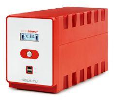 SALICRU Onduleur SPS 1600 SOHO + Line-interactive 1600VA 2xUSB LCD 4prises IEC +2 protegee ADSL Cold Start Garantie 2 ans 647CA000011