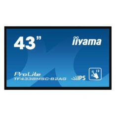 "IIYAMA LFD 43""IPS LED Hauts Parleur DP/DVI/2xHDMI 450cd/m² 1100:1 12ms VESA 400X200 Tactile PCAP 12points RJ45 Mini Jack RS-232c TF4338MSC-B2"