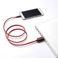Câble Lumineux Gamium USB / USB C USB mâle à USB C Câble plat 1 m Câble intelligent: lumière en fonction du niveau de charge
