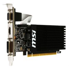 VGAN MSI GT 710 2GD3H LP 954 MHz DDR3 2048 Mo 1600 MHz PCI-E 2.0 x8 Memoire 2Go Pour config type HTPC et PC Home Cinema