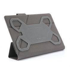 H-750 TPU Orange Housse universelle pour tablettes 7'' Toucher doux Attaches en silicone ajustables Languette magnétique