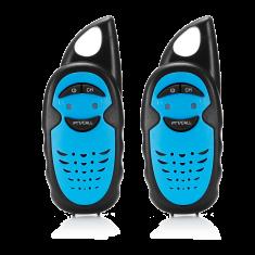 Talkie-Walkie enfant portée de 3km, 3 canaux clips ceinture inclus pack de 2pcs, bleu