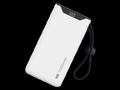 WE Batterie de secours, Power Bank, 10 000 mAh, PD 18W 1 port USB-A, 1 port USB-C pour chargement simultané - Blanc