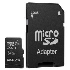 CARTE MEMOIRE HIKVISION M-SD 128G MICRO SDHC - SERIE C1 AVEC ADAPTATEUR  92MB/s 40MB/s Class 10