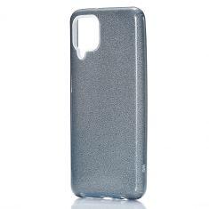 WE - Coque de protection paillette pour smartphone Samsung Galaxy A12 NOIR.Ultra-fine au toucher, protège des chocs et des rayures