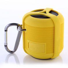 Enceinte Sport Bluetooth Waterproof Jaune - 3W - resiste aux chocs - à la poussière et flotte