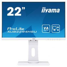 "Moniteur IIYAMA 21,5"" LED 16:9 4ms 1920x1080 DisplayPort HDMI VGA USB 2x2.0 haut-parleurs BLANC pied réglable en hauteur XUB2294HSU-W1"