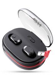 Ecouteurs sans fil - Earpod HD bass sound - Bluetooth 5.0 Cable de charge intégré Boitier de recharge (x18 recharges)