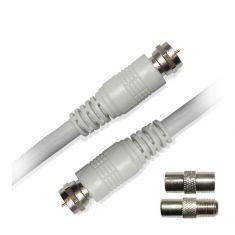 Câble SAT mâle-2.50 m+2 adaptateurs