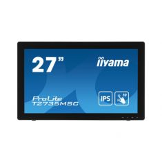 "Moniteur IIYAMA 27"" Tactile PCAP dalle AMVA+ 10 points 5ms 1920x1080 VGA DVI HDMI 255cd/m² USB 3.0-Hub en verre sans cadre /T2735MSC-B3"