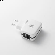 Chargeur secteur universel blanc 2 ports USB 2.4A - Switch D2AL2USBB