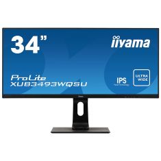 """Moniteur IIYAMA 34"""" IPS 21:9 4ms 3440x1440 Ultra Wide QHD HPs 2xHDMI DisplayPort USB-HUB pied reglable en hauteur / XUB3493WQSU-B1"""