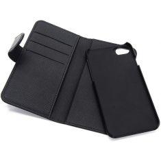 WE Etui folio MAGNETIQUE APPLE IPHONE 13 Noir: Coque détachable - fermeture magnétique - anti-chocs - Accès caméra – porte-cartes