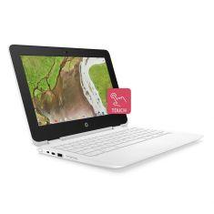 Portable HP Chromebook x360 11-ae 100 nf Celeron® N3350 4GB LPDDR4 on Board Intel® HD 500 eMMC 64 Go 2xUSB C 2xUSB 3 5AS79EA
