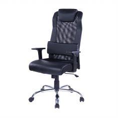 Chaise de bureau pivotante WE réglable en hauteur soutien lombaire intégré 5 roues