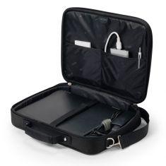 """DICOTA Saccoche pour PC 14""""-15.6"""" Légère Noir protection polyester cadre métal et plusieurs comparti ments MULTI BASE D30446-V1"""