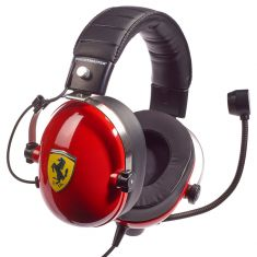 THRUSTMASTER Casque FERRARI T- T.RACING SCUDERIA PS4 XBOX ONE PC MAC Confort exceptionnel licence officielle Ferrari Cable 3M
