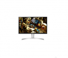 "MONITEUR LG 27"" LED IPS 16:9 UHD 4K 3840x2160 5ms 300cd/m² 2xHDMI DisplayPort sRGB à plus de 98% Aluminium/Blanc  27UL550-W"