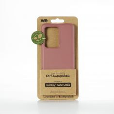 WE Coque Bio SAMSUNG GALAXY S20 Ultra - Eco-Friendly Biodégradable et Compostable - Housse Etui Antichoc, Compatible avec L'induction, Ultra Protection Bumper, Anti Rayure - Fuschia