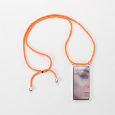 WE Coque de protection avec tour de Cou pour smartphone Apple iPhone 6/7/8/SE 2020. Ultra résistant. Apparence conservée. ORANGE