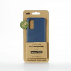 WE Coque Bio SAMSUNG GALAXY S20 - Eco-Friendly Biodégradable et Compostable - Housse Etui Antichoc, Compatible avec L'induction, Ultra Protection Bumper, Anti Rayure - Bleu